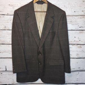 Burberry Vintage Mens Sport Coat Blazer Size 44